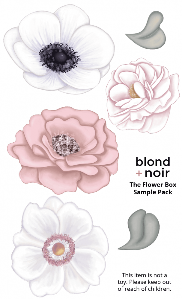 The Flower Box - SAMPLE PACK | Create Your Own Custom Floral Wall Decals! - Petit Luxe Bebe