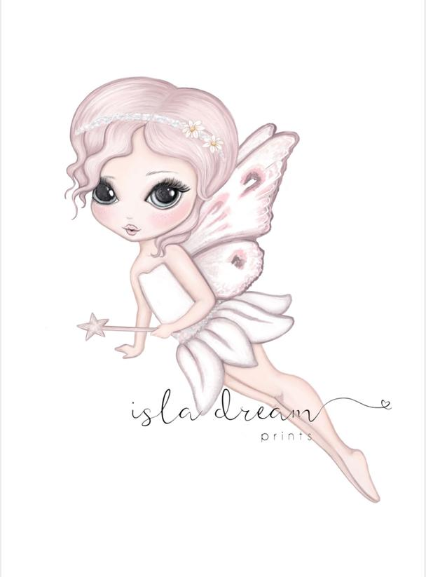 Grace The Flying Butterfly Fairy Art Print - Petit Luxe Bebe