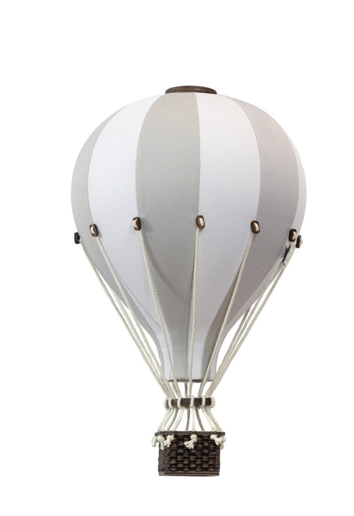 Decorative Floating Hot Air Balloon - Light Grey - Petit Luxe Bebe