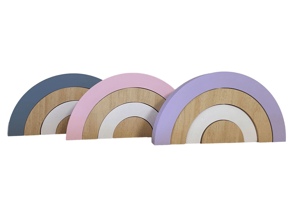 Stacking Mini Wooden Rainbows - Petit Luxe Bebe