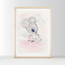 Nursery Decor Wall Art Print - Harper The Mouse