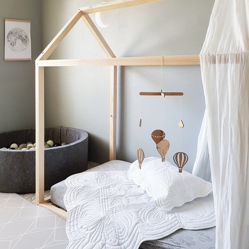 Hot Air Balloon Bamboo Nursery Mobile - Petit Luxe Bebe