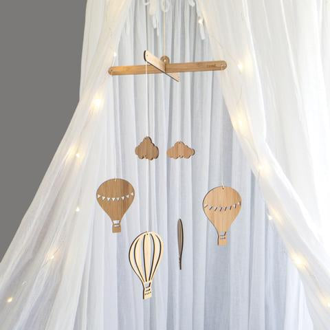 Hot Air Balloon Bamboo Nursery Mobile