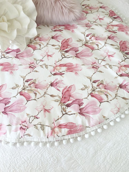 Pink Magnolia Baby Playmat - Petit Luxe Bebe