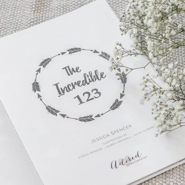 The Incredible 123 Book - Petit Luxe Bebe