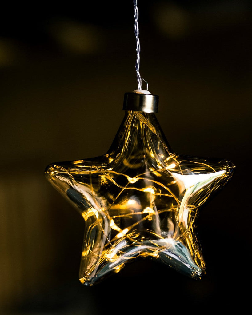 Mirrored Glass Star Hanging Light - Petit Luxe Bebe