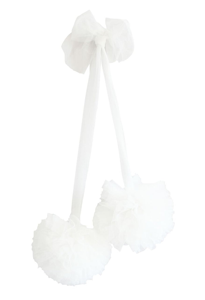 Soft Tulle Pom Pom - Ivory - Petit Luxe Bebe