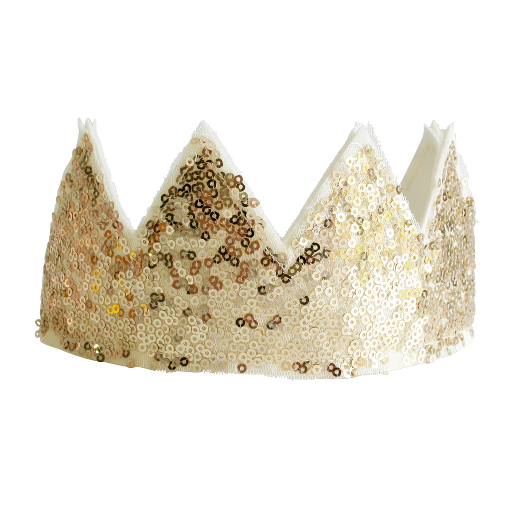 Alimrose Sequin Crown - Gold - Petit Luxe Bebe