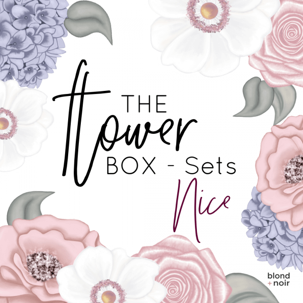 The Flower Box Sets - Nice | Floral Wall Decal Set - Petit Luxe Bebe