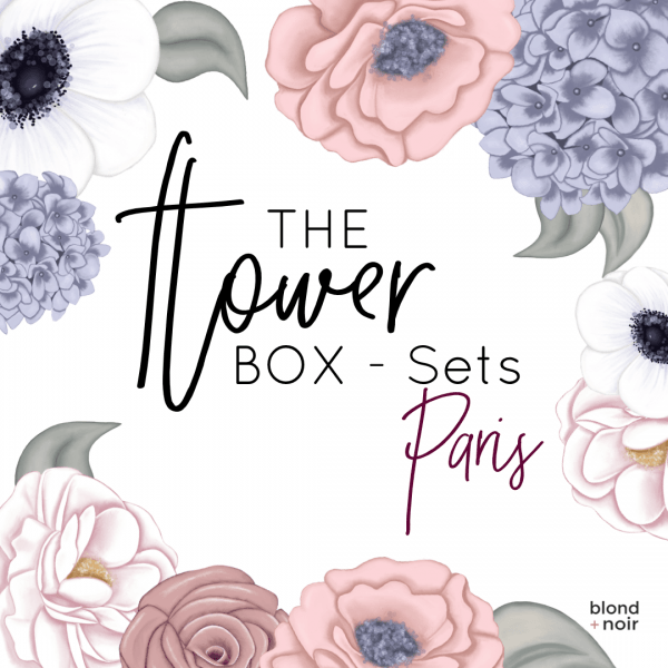 The Flower Box Sets - Paris | Floral Wall Decal Set - Petit Luxe Bebe