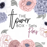 The Flower Box Sets - Paris | Floral Wall Decal Set