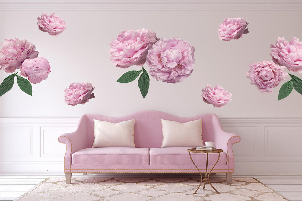 Peonies Wall Decals - Full Pack - Petit Luxe Bebe
