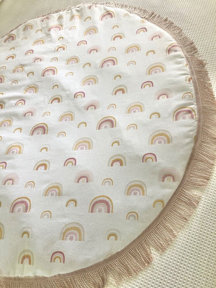 Luxe Over The Rainbow Tassel Baby Playmat - Petit Luxe Bebe