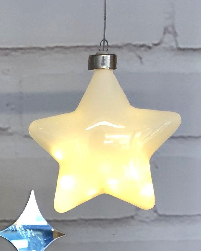 White Halo Star Hanging Light - Petit Luxe Bebe