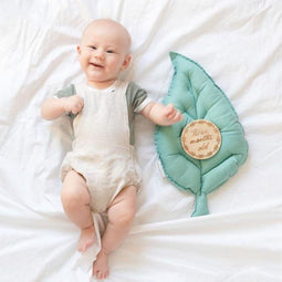 Jungle Leaf Custom Cushion - Petit Luxe Bebe