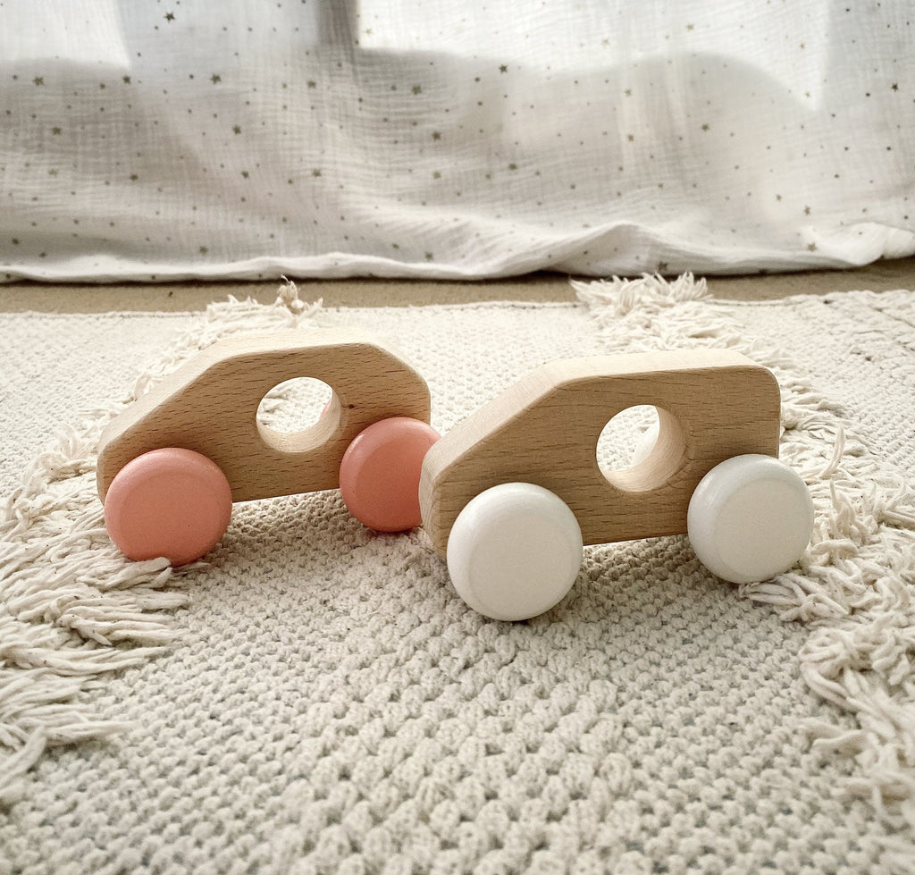 Sonny - Wooden Push Along Toy Van - Petit Luxe Bebe