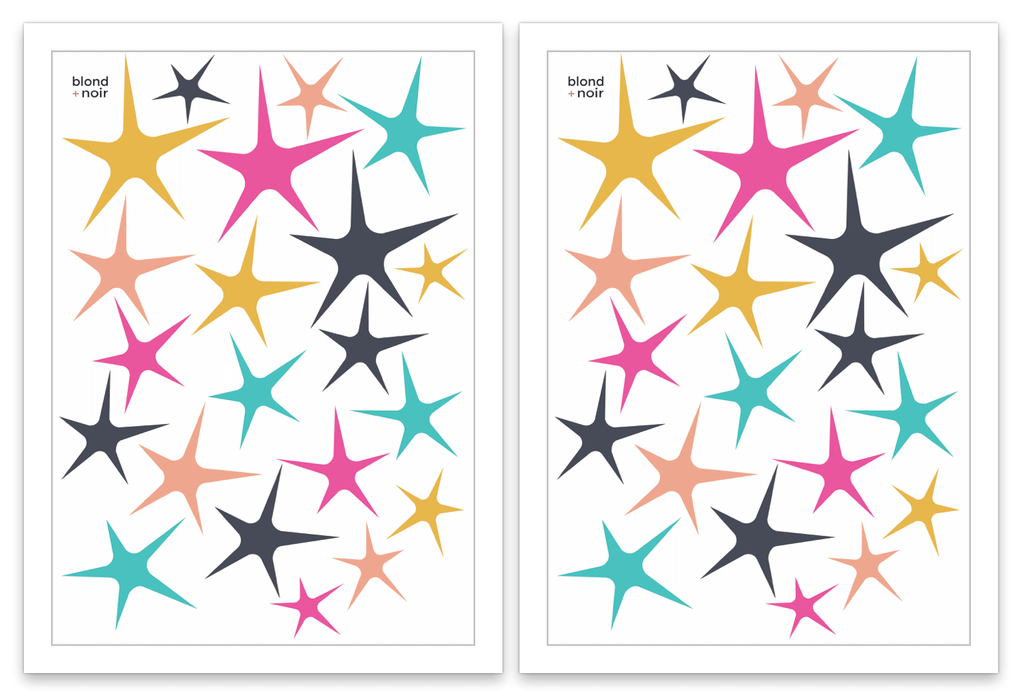 Sweet Stars Wall Decals - Petit Luxe Bebe