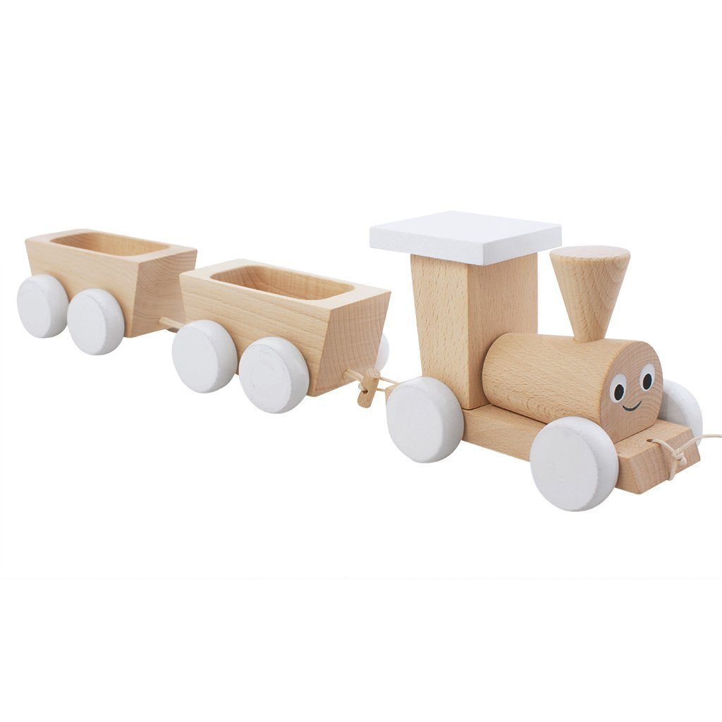 Theodore - Wooden Pull Along Train Toy - Petit Luxe Bebe