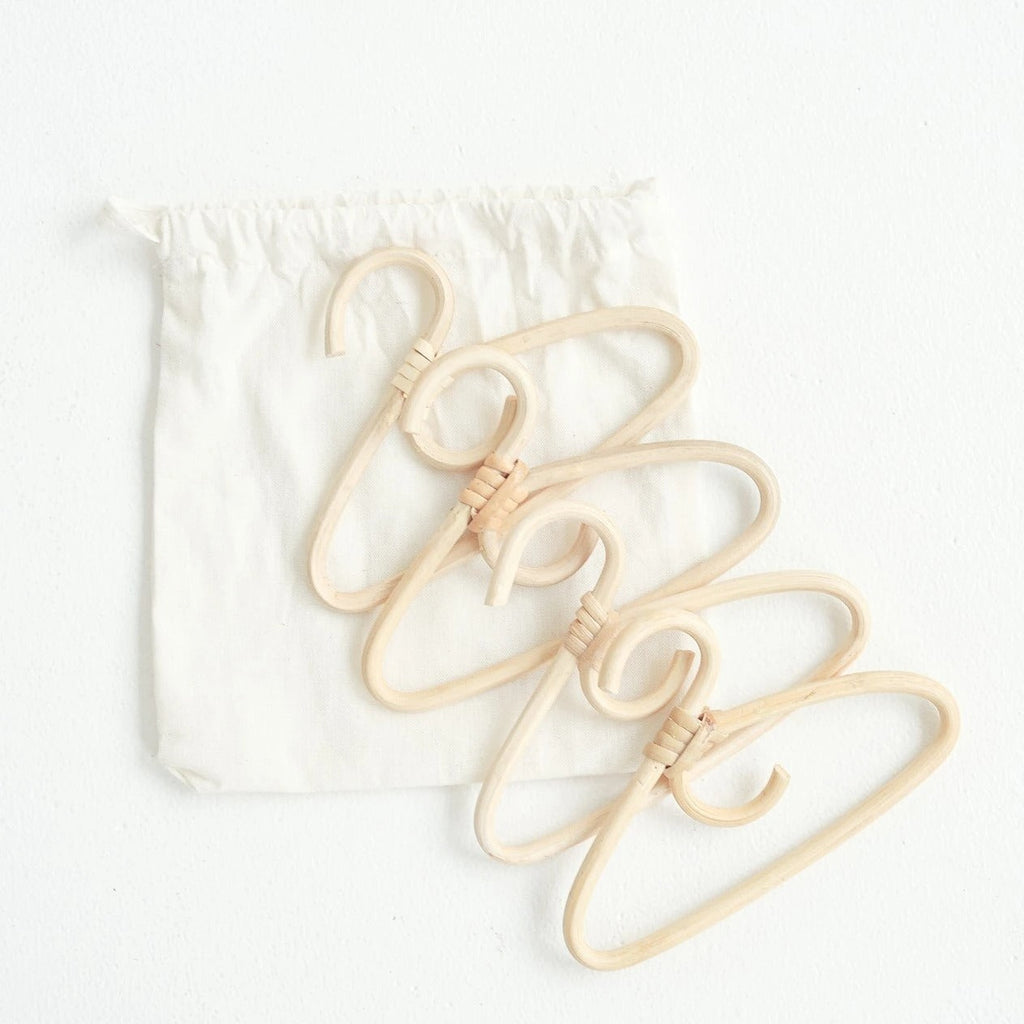 TINY HARLOW Rattan Dolls Clothes Hangers - Petit Luxe Bebe