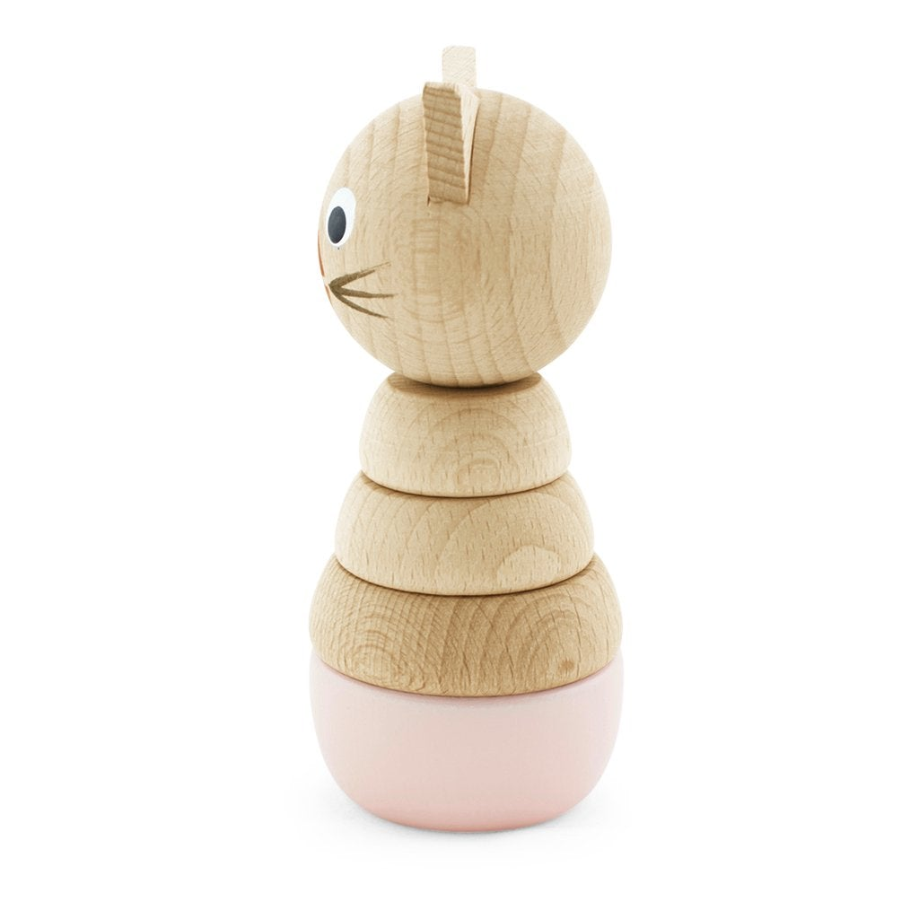 Victoria - Wooden Stacking Cat Puzzle - Petit Luxe Bebe
