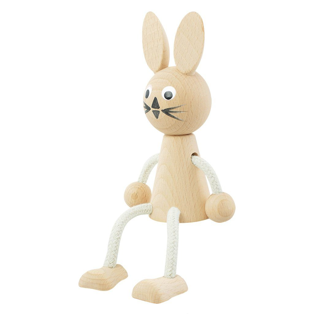 Willow - Wooden Sitting Rabbit Toy - Petit Luxe Bebe
