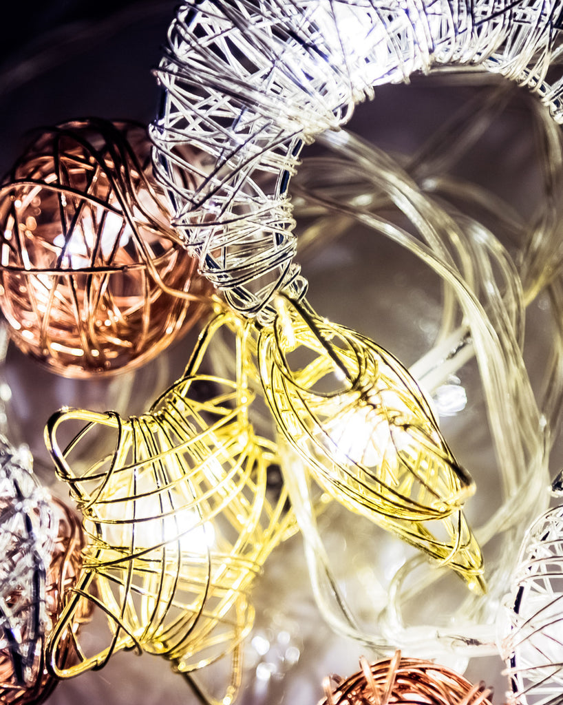 Starry Night Celestial Woven Wire Fairy String Lights - Petit Luxe Bebe
