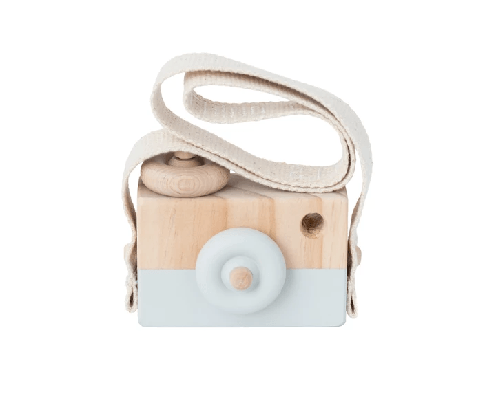 Wooden Toy Camera - Light Grey - Petit Luxe Bebe