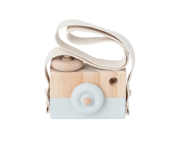 Wooden Toy Camera - Light Grey