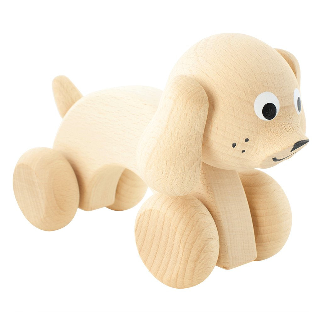 Harley - Wooden Push Along Dog Toy - Petit Luxe Bebe