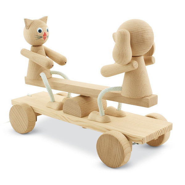 Wooden Seesaw Pull Along Toy - Carl & Coco