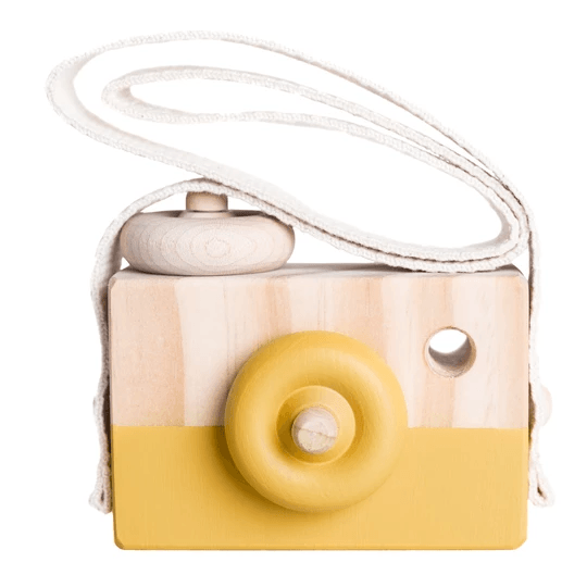 Wooden Toy Camera - Goldie - Petit Luxe Bebe