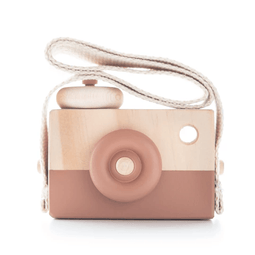 Wooden Toy Camera - Terracotta