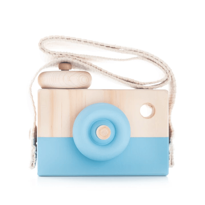 Wooden Toy Camera - Ocean Surf - Petit Luxe Bebe