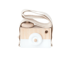Wooden Toy Camera - Star White
