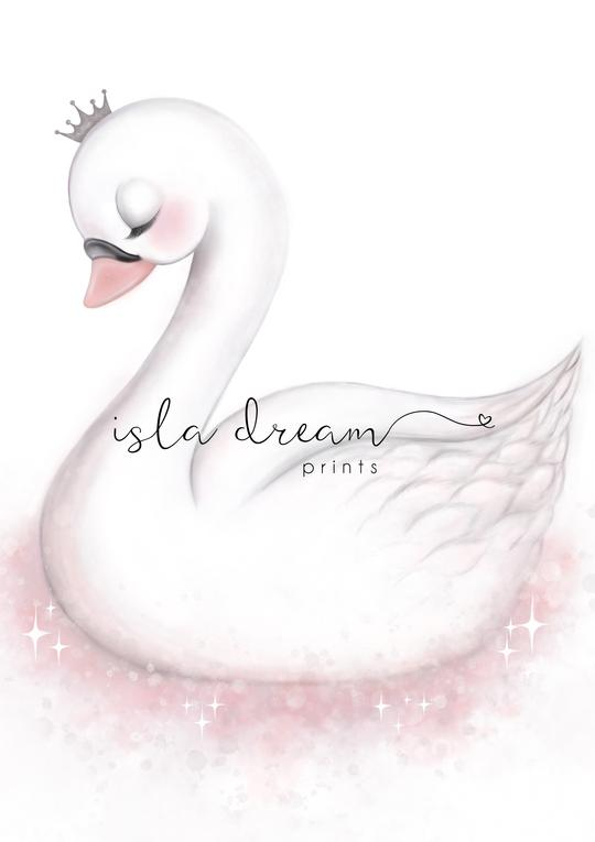 Angel - Enchanting Swan Art Print - Petit Luxe Bebe