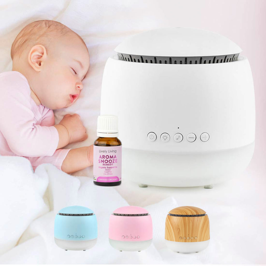 AROMA SNOOZE Sleep Aid Diffuser Bundle - Petit Luxe Bebe