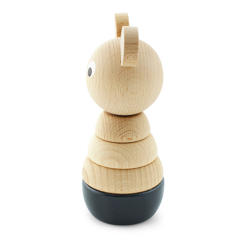 Bernard - Wooden Bear Stacking Puzzle - Petit Luxe Bebe