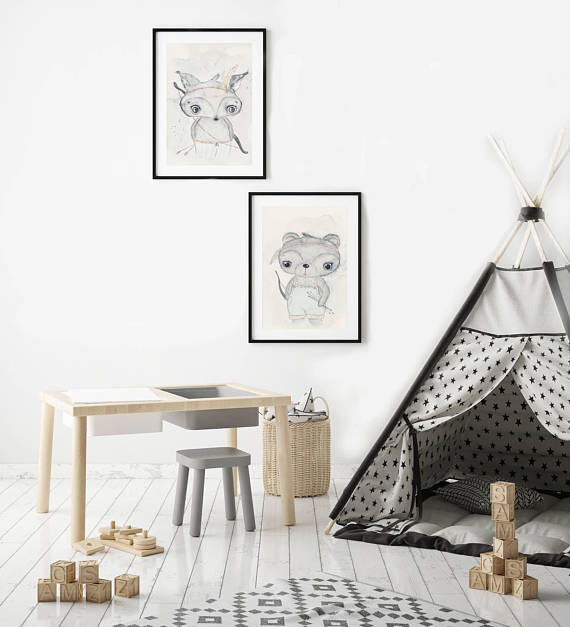 Nursery Decor Wall Art Print - Boho Bear
