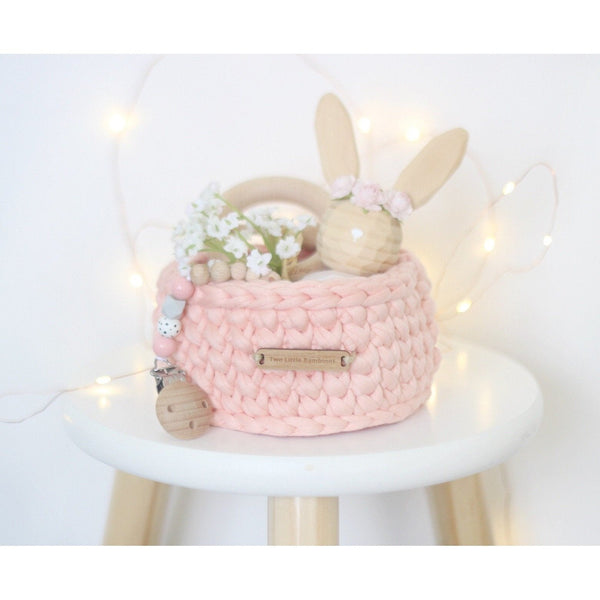 Handmade Crochet Basket - Small