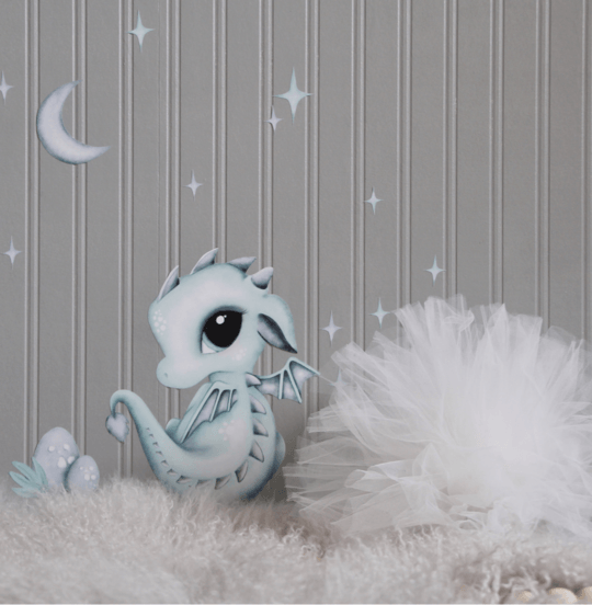 Dex the Baby Dragon Wall Decal - Petit Luxe Bebe