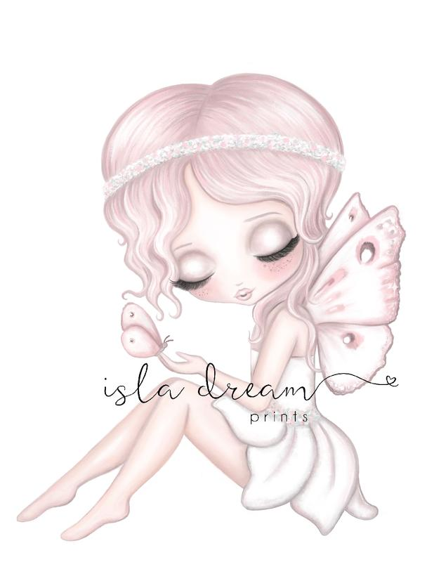 Grace the Butterfly Fairy Children's Whimsical Art Print