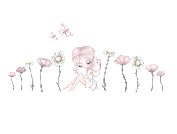 Grace's Garden Fabric Wall Decals - Petit Luxe Bebe