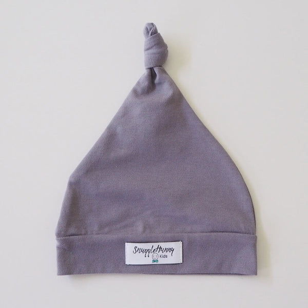 Grey Knotted Baby Beanie