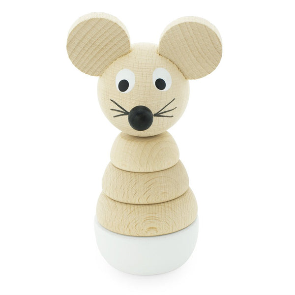 Hobbs - Wooden Stacking Mouse Puzzle