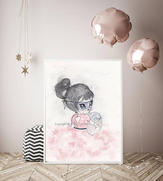 Nursery Decor, Whimsical Wall Art Print - Madeline