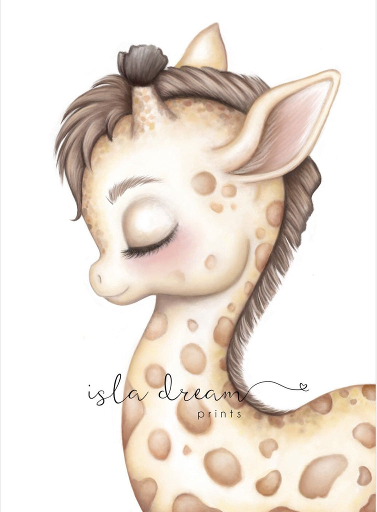 Gerald The Giraffe - Jungle Theme Art Print - Petit Luxe Bebe