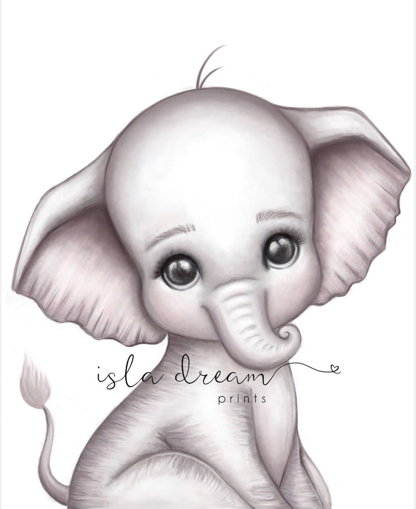 Theodore The Elephant - Jungle Theme Art Print - Petit Luxe Bebe