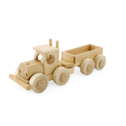 Koby - Wooden Truck With Trailer