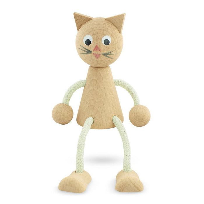 Lucy - Wooden Sitting Cat Toy