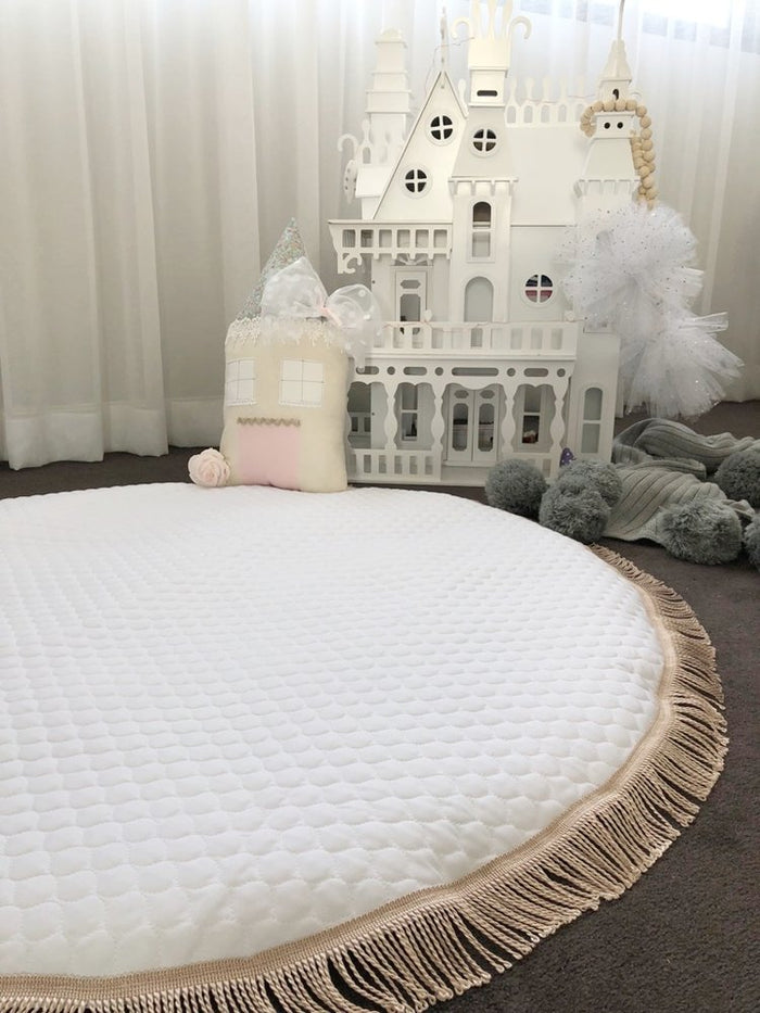 Luxe Quilted Tassel Baby Playmat